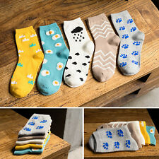 1 Pair Fashion Womens Sports Socks Casual Cute Pattern Ankle High Cotton Socks
