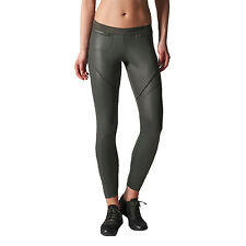 adidas Stella McCartney Womens Studio Long Tights Gym Training Pants Grey