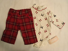 GYMBOREE 0-3 6-12 or 12-18 Month Choice Holiday Traditions Pant Bodysuit Outfit