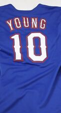 NEW Mens MAJESTIC Texas RANGERS Michael YOUNG #10 Blue Baseball MLB Jersey