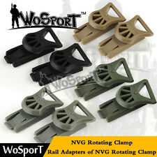 Tactical Goggles Swivel Clips NVG Rotating Clamp Adapter for Fast Helmet Rail