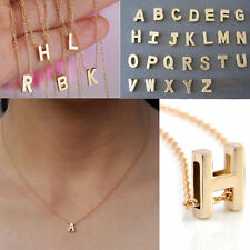 Hot Fashion Women Lady Gold Plated Letter A-Z Pendant Chain Necklace Jewelry