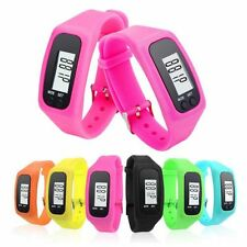 Digital LCD Watch Bracelet Pedometer Run Step Walking Distance Calorie Counter