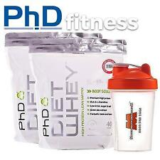 2 x PhD Nutrition Diet Whey 1kg Dietry Supplement Stack / Deal + FREE Shaker