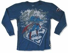 DC Comics Trunk LTD Superman Breaks Chains Kids Youth Blue Long Sleeve Shirt NEW