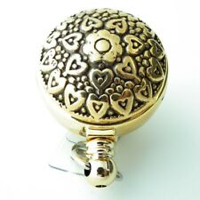 Gold Hearts and Flowers Badge Reel, Retractable ID Badge Reel 275