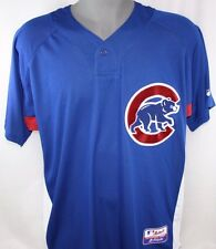 NEW Mens MAJESTIC Cool Base Chicago CUBS Blue Warm Up Baseball Jersey