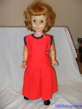 """RARE ANTIQUE VINTAGE 22"""" 1964 SUZY HOMEMAKER DOLL #2 BY DELUXE READING COMPANY"""
