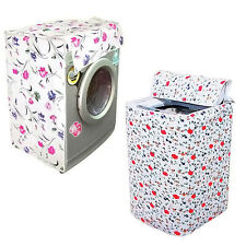 Flower Pattern Thicker Waterproof Durable Washing Machine Zippered Dust Cover
