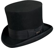 7 Inch Wool Top Hat SteamPunk Monopoly Man Victorian Dickens Mad Hatter Black