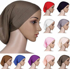 Head Scarf Islamic Underscarf Cover Women Cotton Bonnet Muslim Hijab Headwrap