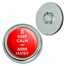 Metal Craft Sewing Novelty Buttons Set of 4 Keep Calm and A-H