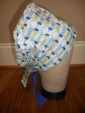 New KIMKAPS blue green puppy print Surgical Scrub Hat CAP  Style 4
