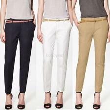 Women's Casual Skinny Pencil Pants OL Pocket Style Trousers Slim Fit Long Pants