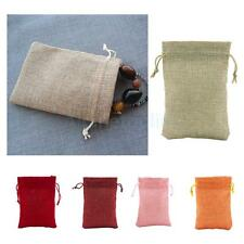 10pcs Drawstring Burlap Bags Pouch Wedding Favors Gift Bags Jewelry Bags 9*13cm