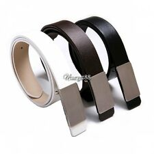 UTAR Men Faux Leather Waistband Girdle Waist Metal Buckle Belt Strap 3 Colors