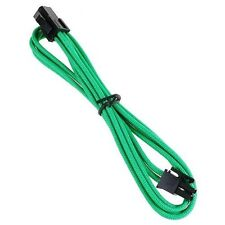 BitFenix 45cm 4-Pin ATX12V Extension Cable - Sleeved Green/Black