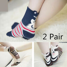 New Comfortable 2 Pair Socks Women Girls Socks Slippers Short Socks Ankle Socks