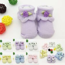 0-6 Month Cute Newborn Baby Girl Boy Anti-Slip Cotton Socks Slipper Shoes Boots