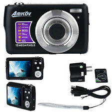 "Amkov CDOE3 2.7"" LCD Screen 1280x720 HD 15MP Anti-Shake Digital Video Camera NEW"