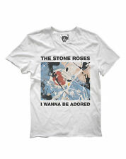 AMPLIFIED THE STONE ROSES WANNA BE ADORED MEN'S WHITE  T-SHIRT