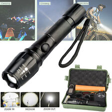 6000LM CREE T6 LED Torch Zoomable Military Flashlight Lamp FREE 18650 & Charger
