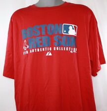 NEW Mens MAJESTIC Boston RED SOX Baseball Authentic Collection Red MLB Shirt