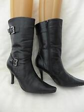 Womens CHINESE LAUNDRY CL   High Heel tall  Ankle Boots Black Buckle 8M...EUC