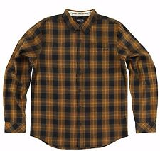 O'Neill SUTHERLIN FLANNEL Mens Button Front Shirt Size Medium Black Plaid NEW