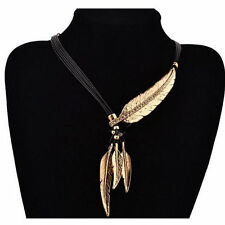 Choker Bib Chunky Hot Tassels Crystal Necklace Statement Leaf Pendant Chain New