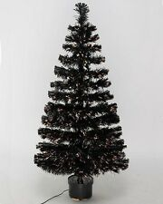 Fibre Optic Twinkling Christmas Tree – Black – various sizes