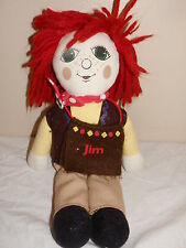 "Vintage 1993 Rosie and Jim 11"" Ragdoll Cloth Doll"