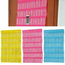 Closet Hanging Jewelry Organizer Bag 36 Pockets Travel Display Shelf 3 Colors