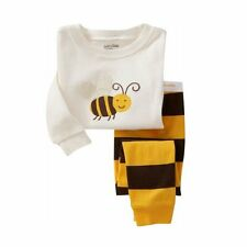 Pajamas Sets 'Bee' Printed Boys Girls Sleepwear Toddler Baby Clothes 2-7T PJs