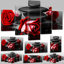 Canvas Art Prints Canvas Mural Flowers Wellness red roses and Stones