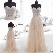 New Formal Long Evening Ball Gown Party Prom Bridesmaid Dress Stock Size4_16