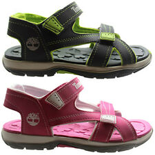 Timberland Mad River 2 Strap Kids Sandals Juniors Youths Pink Grey 43965/3873R