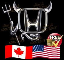 HONDA ~ New 3D Gold , Red  or Chrome Devil Decal Sticker For Car Emblem Logo GTC