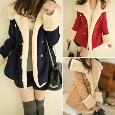 Women Warm Winter Faux Fur Hooded Parka Coat Overcoat Long Lady Jacket Outerwear