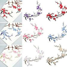 Beautiful Iron on Applique Motif Embroidered Plum Blossom Craft Flower Patch