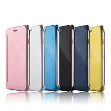 Mirror Smart Clear View Wallet Flip Case Cover For New Apple iPhone 6 6S 7 Plus