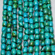 7X6X6MM GREEN TURQUOISE HOWLITE GEMSTONE NUGGET BEADS STRAND(1 STRAND) 15 3/8""