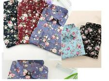 Tops Floral Blouses Long Sleeve Shirt Turn Down New Collar Blouses Blouse