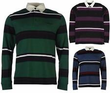 Pierre Cardin Long Sleeve Rugby Polo Shirt Mens Casual Top ~All Sizes S - 4XL