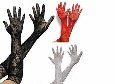 Opear/ Length Black White Red Long Stretch Lace Women Sexy BF4U Gloves -