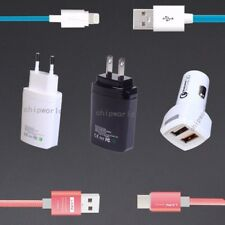 Fast USB Car Charger Adapter Type-C Lightning Cable for Apple Android Samsung