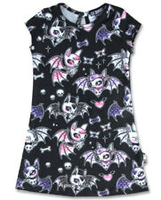 Six Bunnies Cute Bat Black Dress Gothic Different Girl Child Adorable Fun Punk