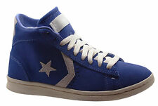 Converse All Star Pro Leather Vulc Mid Blue Mens Trainers blue Suede 136963C U31