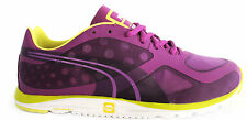 Puma Faas 100 R Womens Trainers Running Shoes Purple Mesh Lace 186750 01 D44
