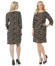 Metaphor Women Plus Twisted Wrap Dress Abstract polyester spandex size 2X 3X NEW